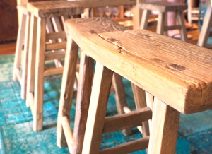 Wooden Stools at Few and Far