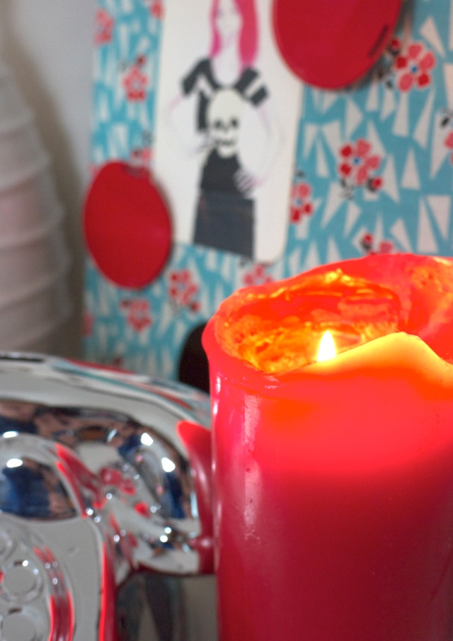 Red Candle and Magnet