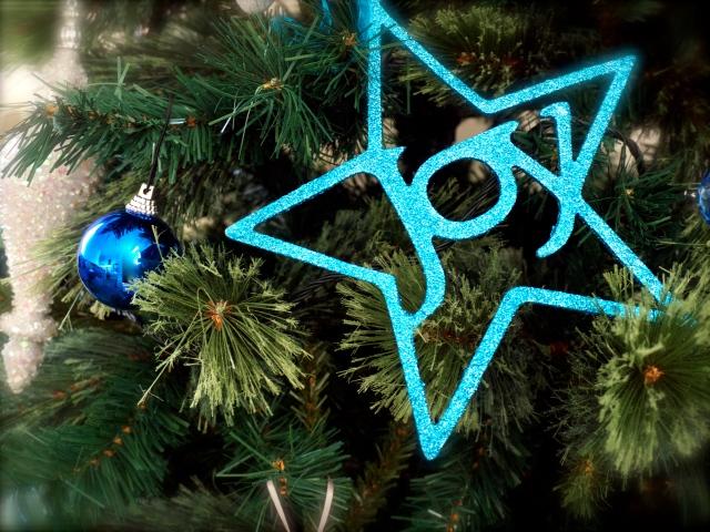 Christmas Tree Blue Joy Ornament
