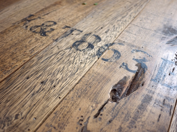 Industrial Coffee Table Top with Battered Ageing