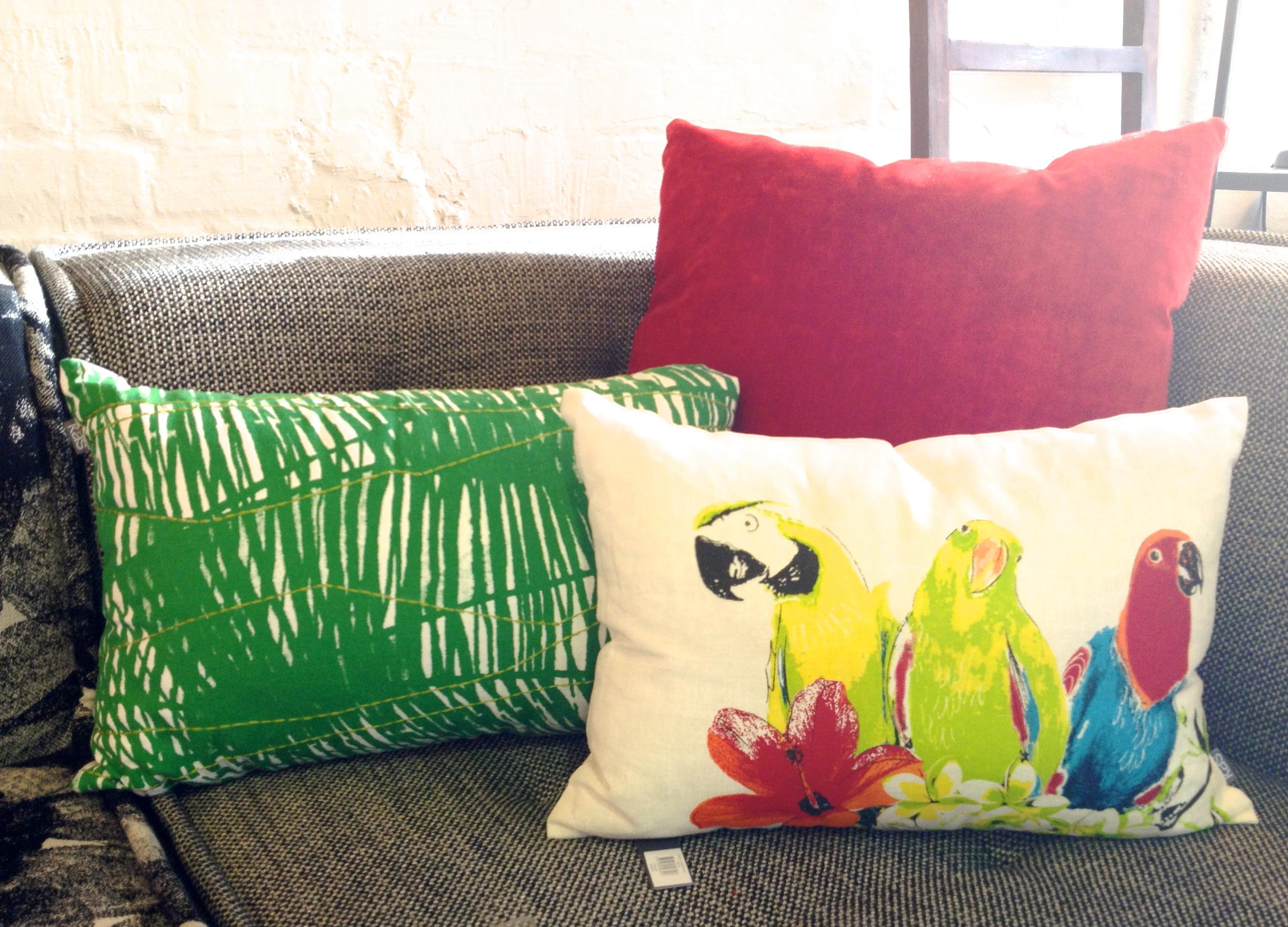 Citrus Colour - Bird Cushions