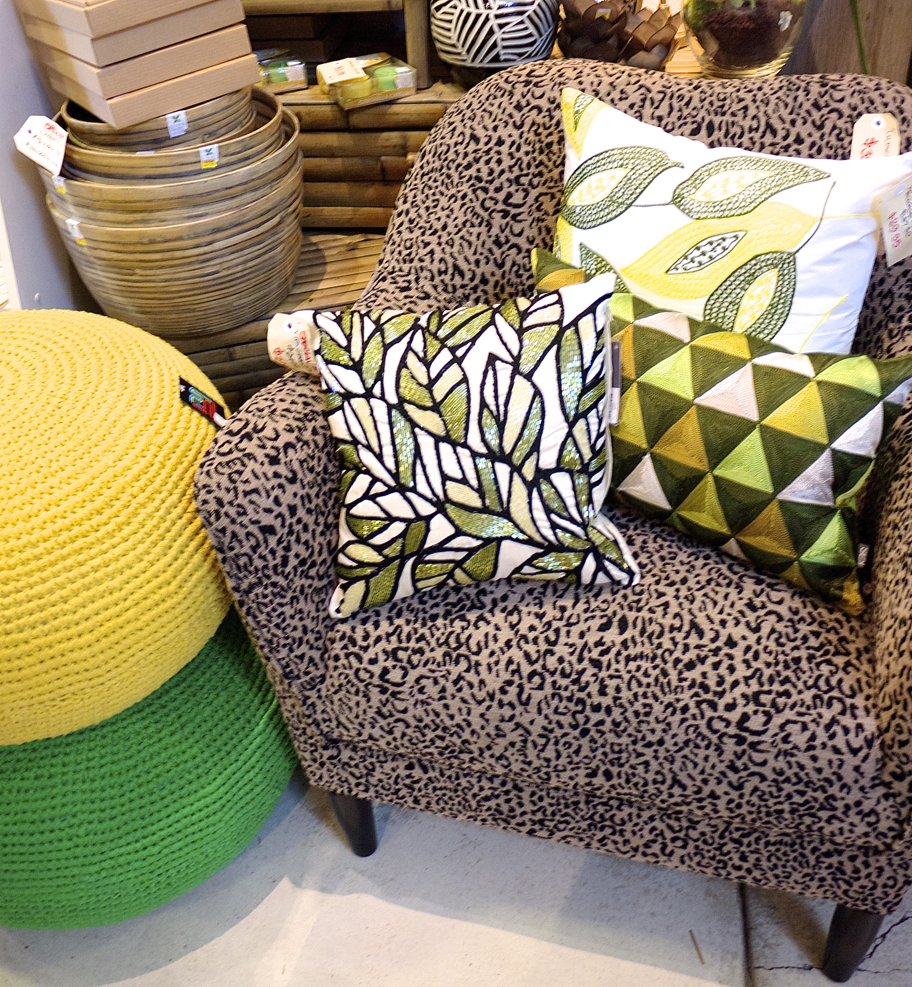 Citrus Colour - Green and Yellow Cushions