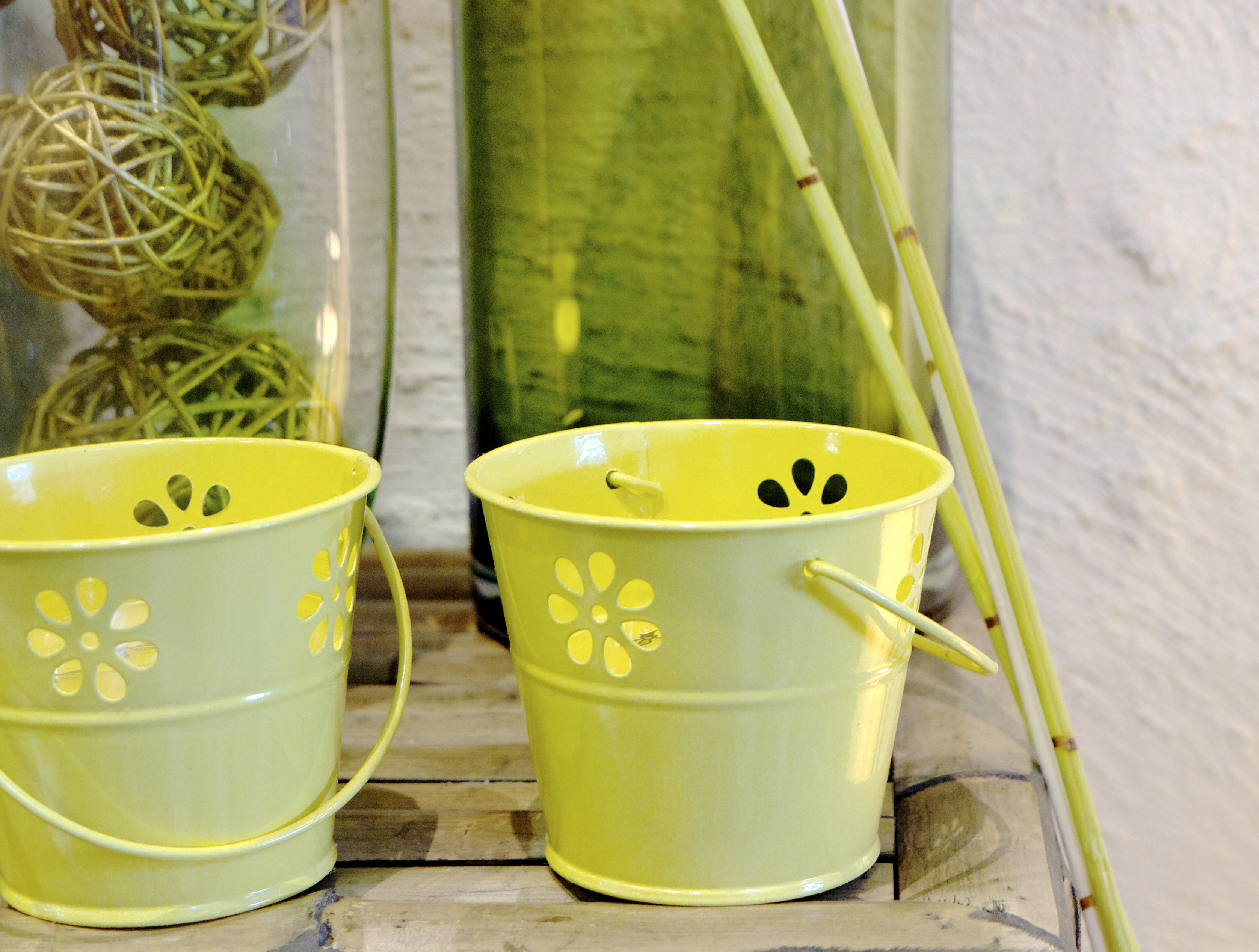 Citrus Colour - Green Candle Holder Buckets