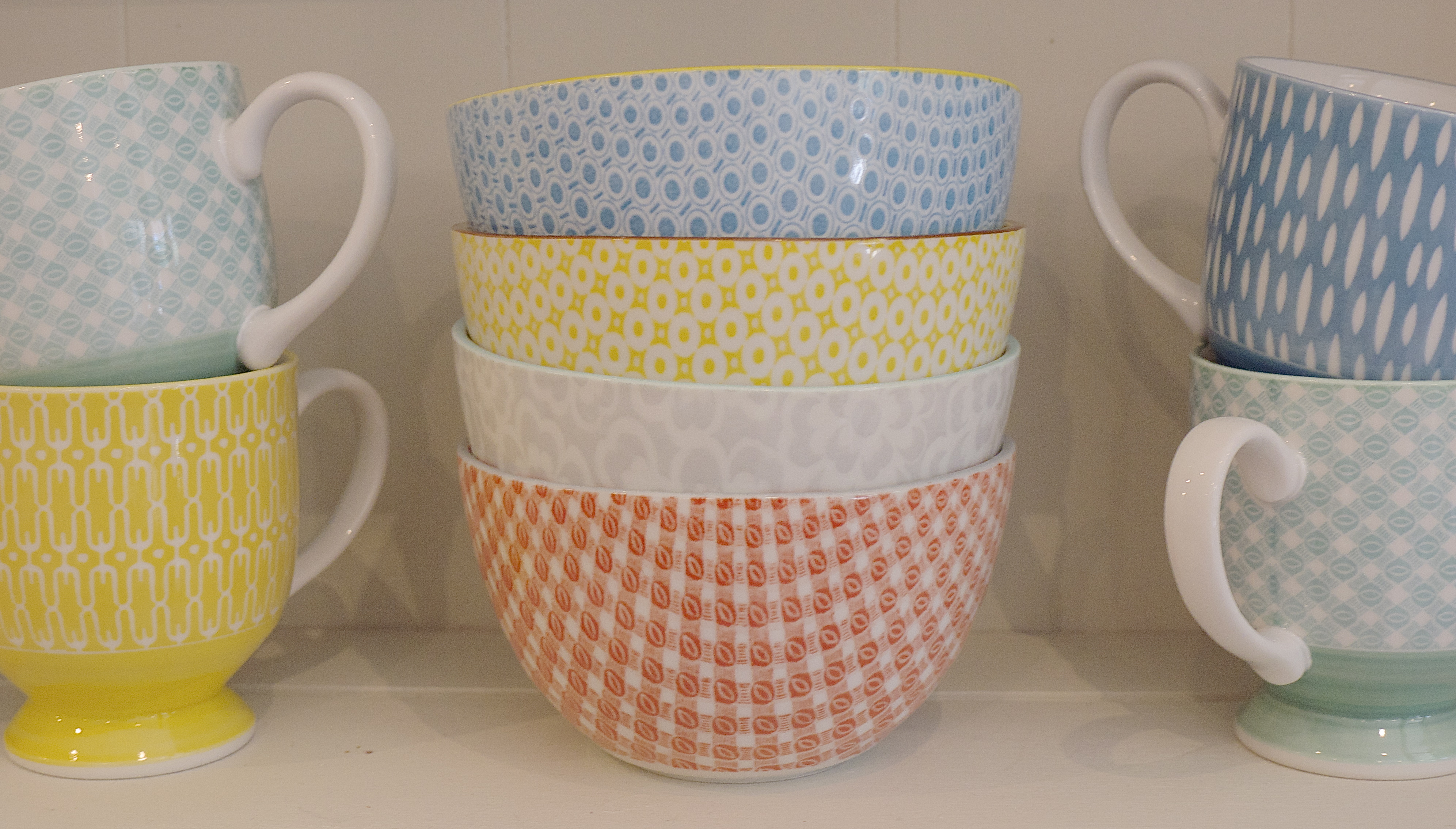 Sky Parlour Bowls and Mugs