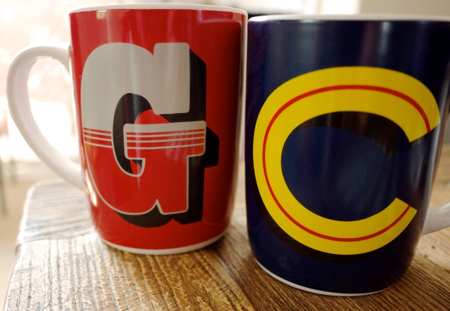 Initial Mugs from Typo
