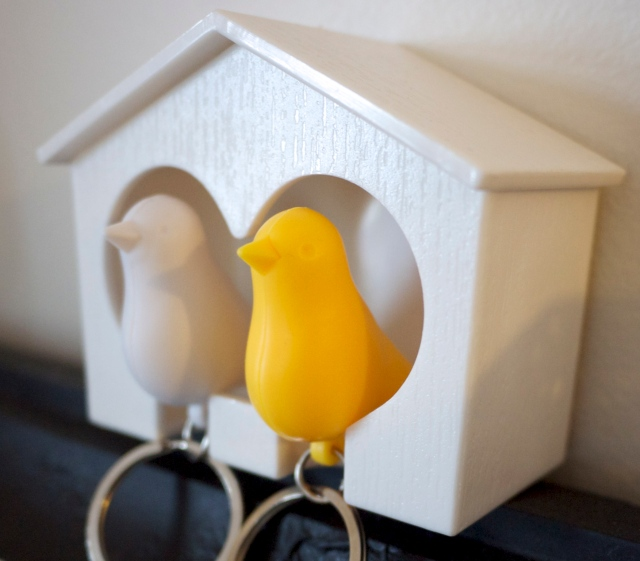 Duo Love Bird Keyring Holders