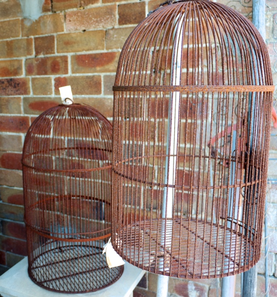 The Bronte Tram - Vintage Rusted Birdcages