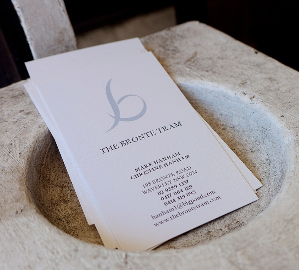 The Bronte Tram - Business Card