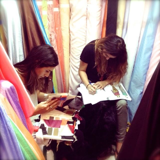 Nermin Salih Sketching with Fabrics