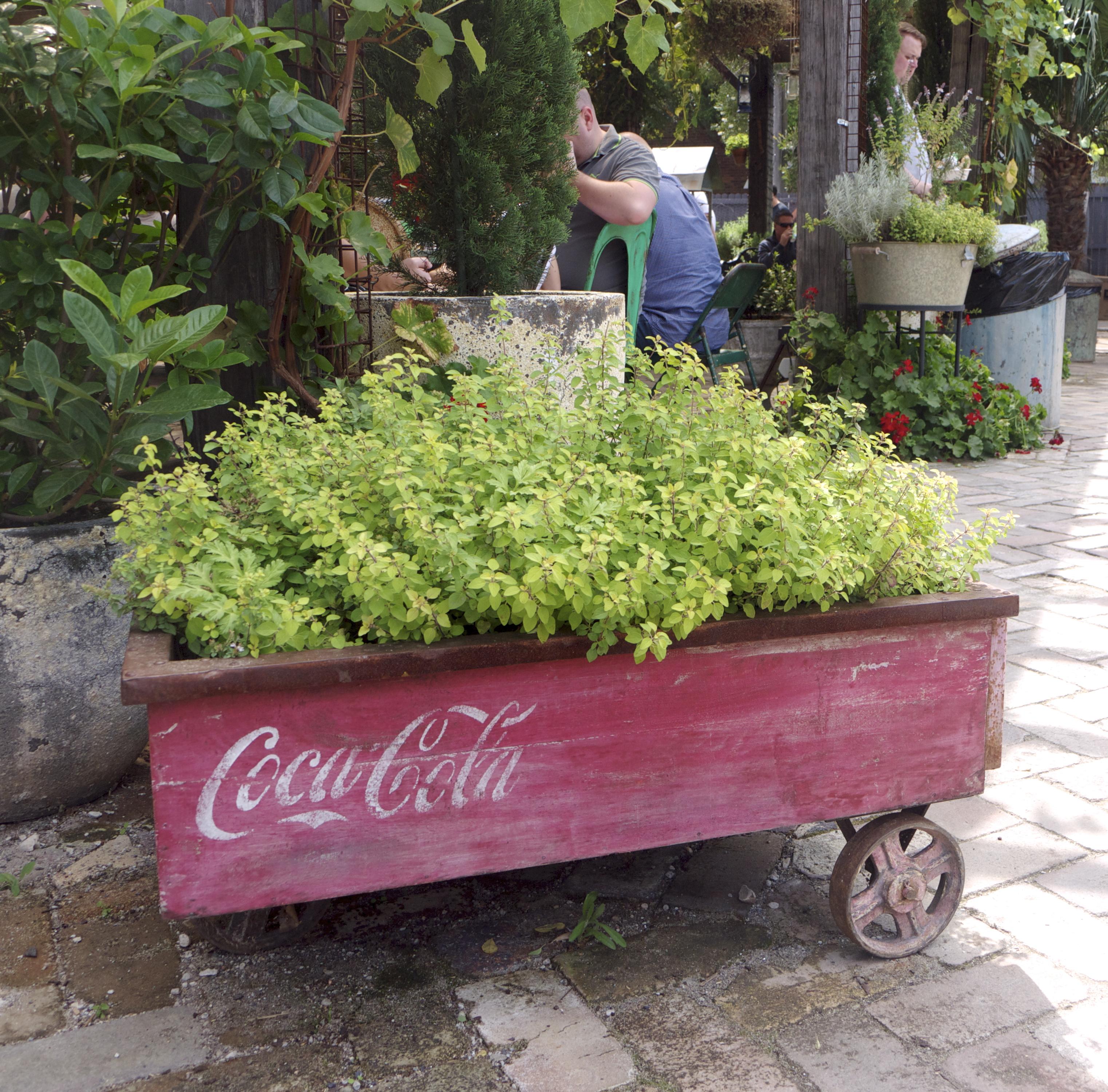 The Grounds of Alexandria - Coca Cola Planter Box