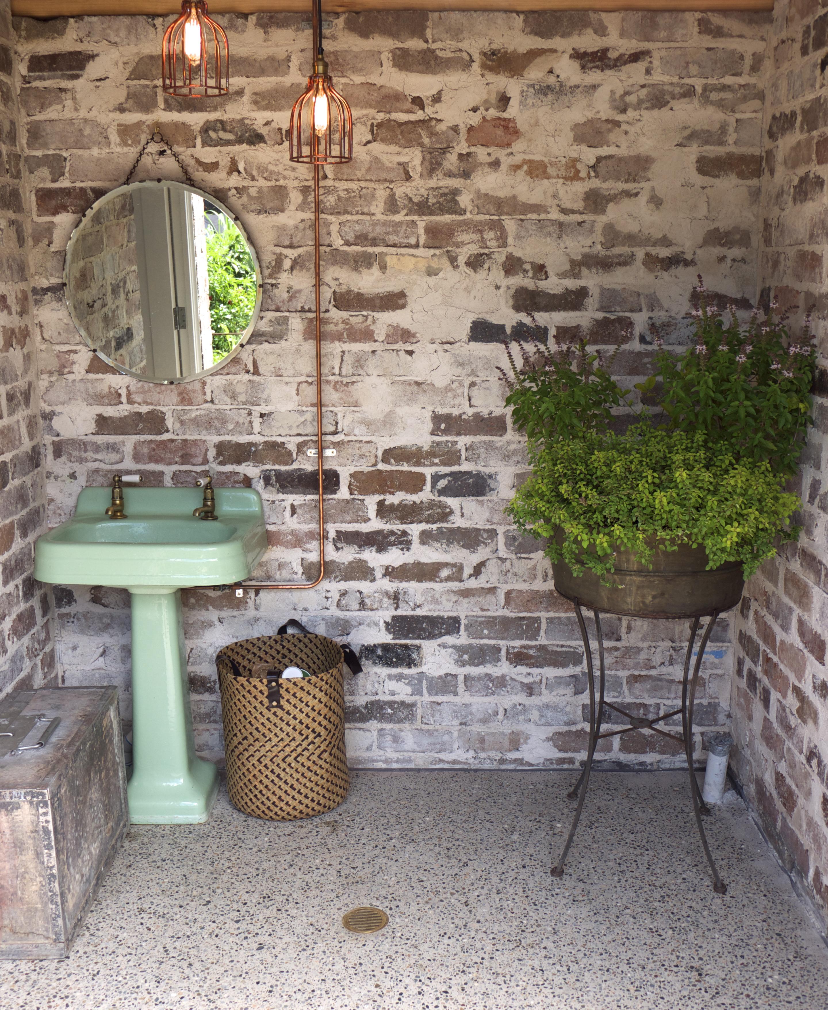 The Grounds of Alexandria - Industrial Garden Bathroom