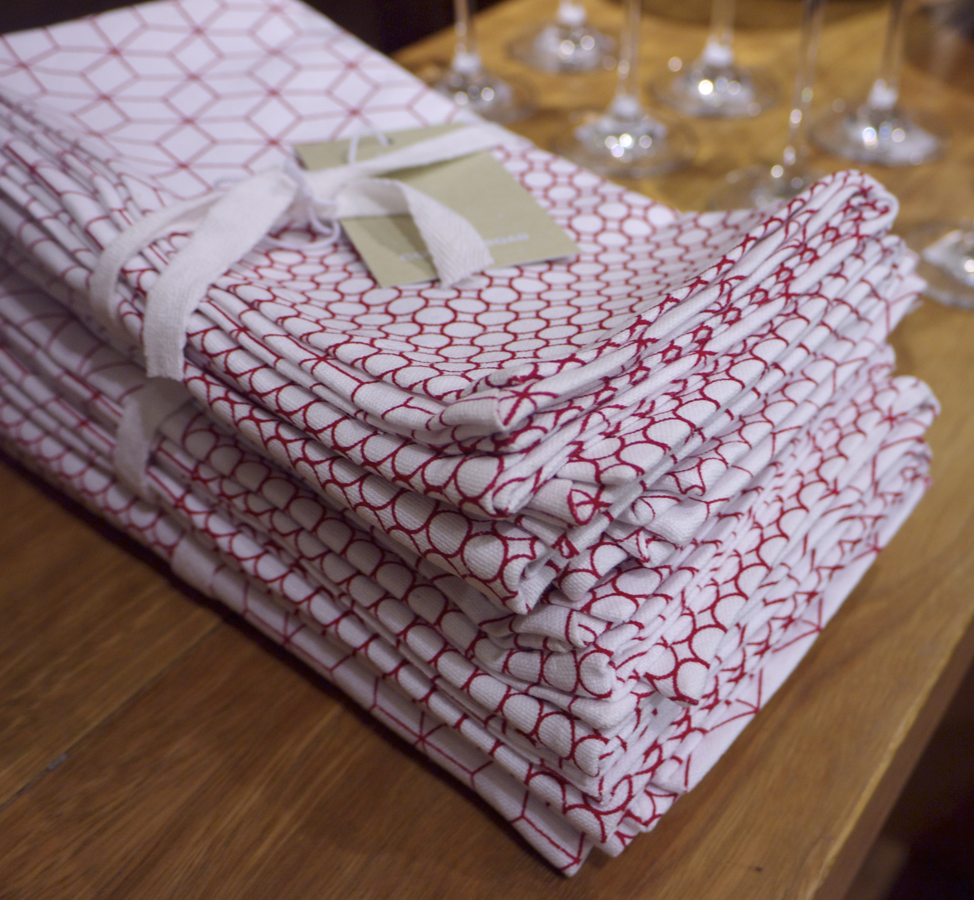Country Road Red and White Napkin