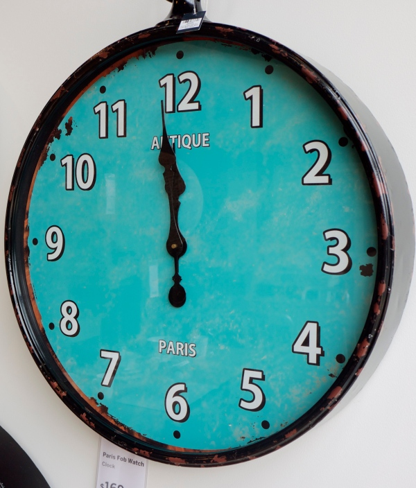 Antique Teal Clock from Freedom