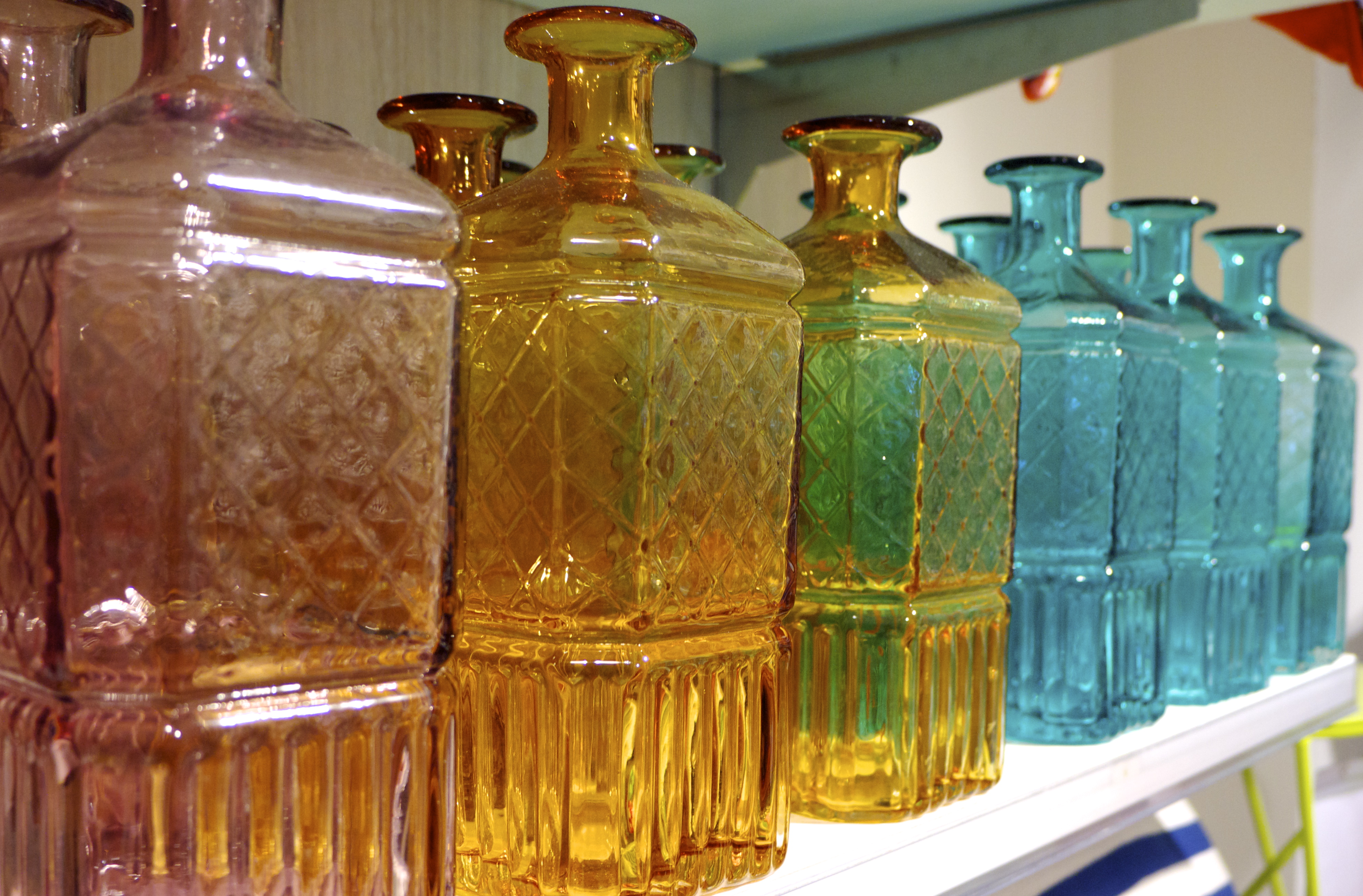Freedom Top Ryde - Colourful Glass Bottles
