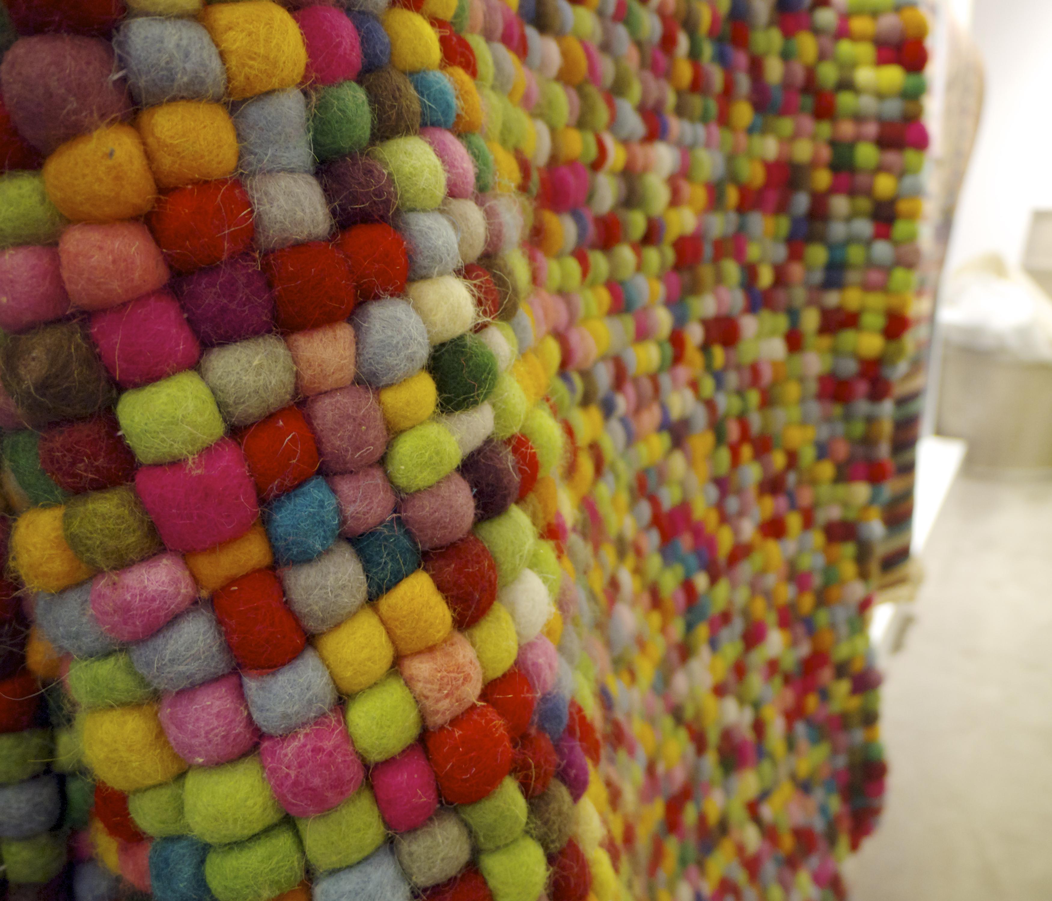 Freedom Top Ryde - Colourful Felt Ball Rug