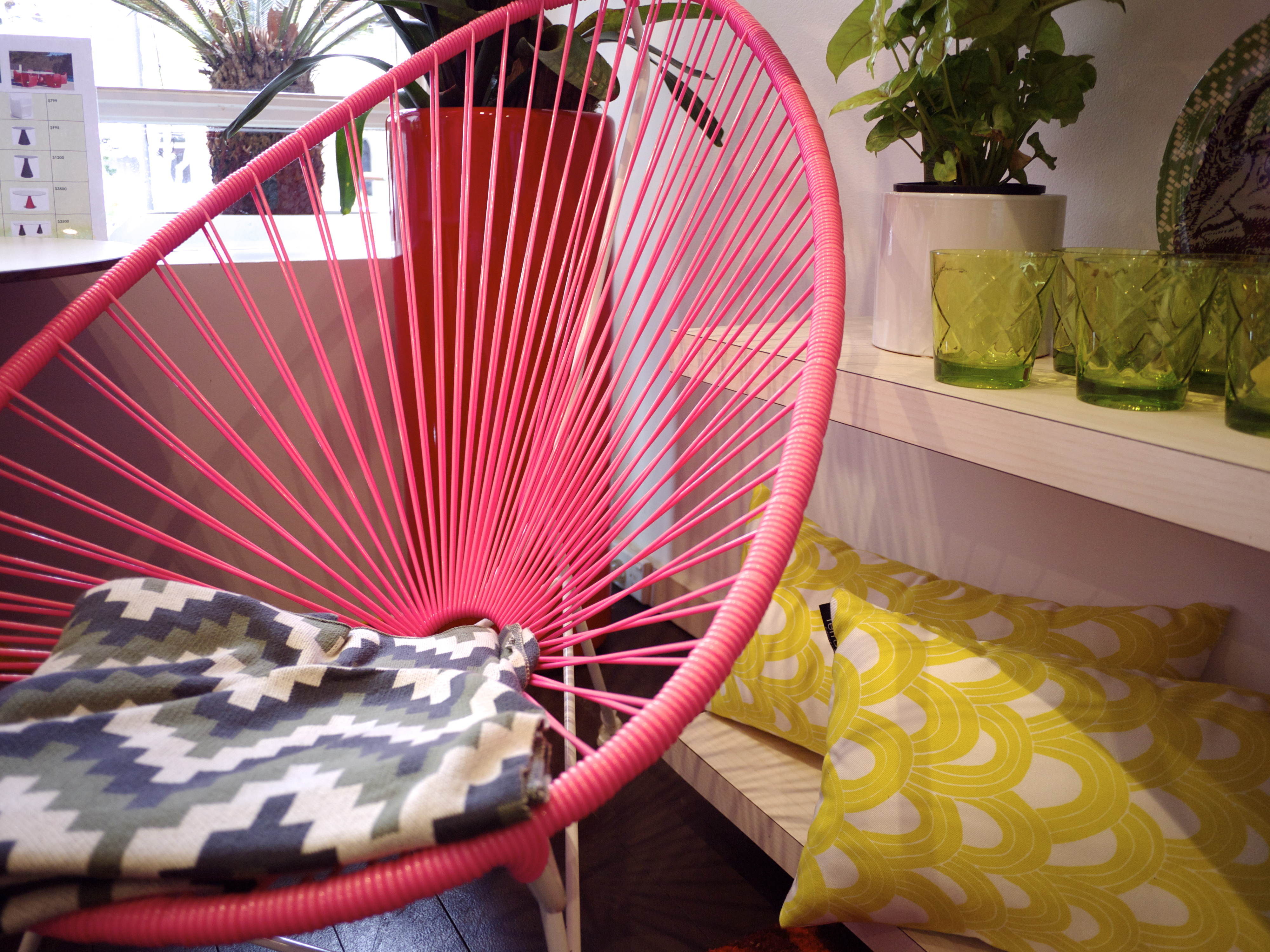 Terrace Outdoor Living - Pink Acapulco Chair
