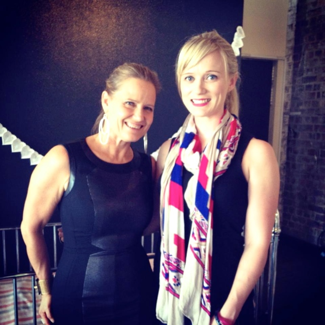 Jen with The Block judge Shaynna Blaze