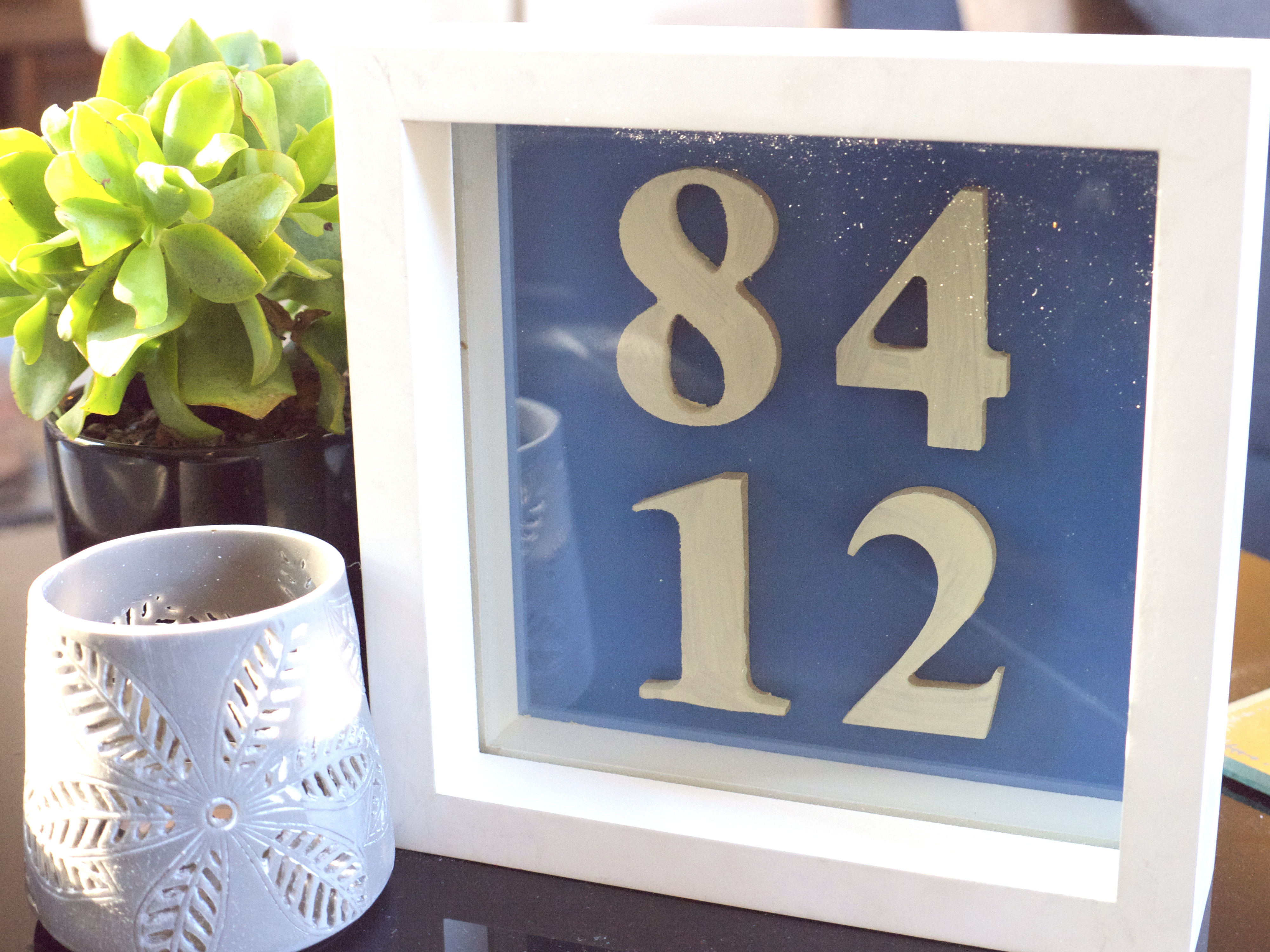 Personalised Art Idea - Put numbers in a box frame