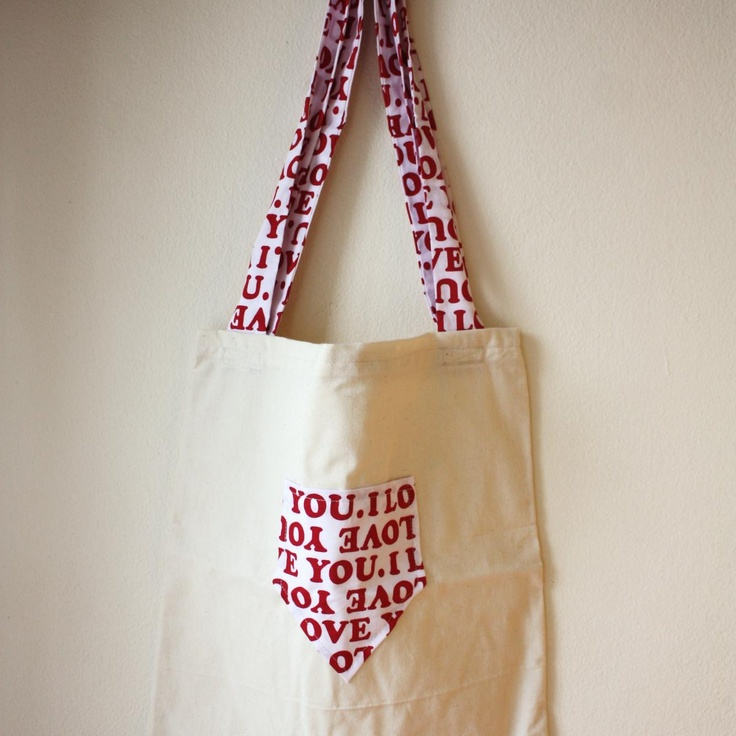 Nookroad Canvas Tote Bag with Love