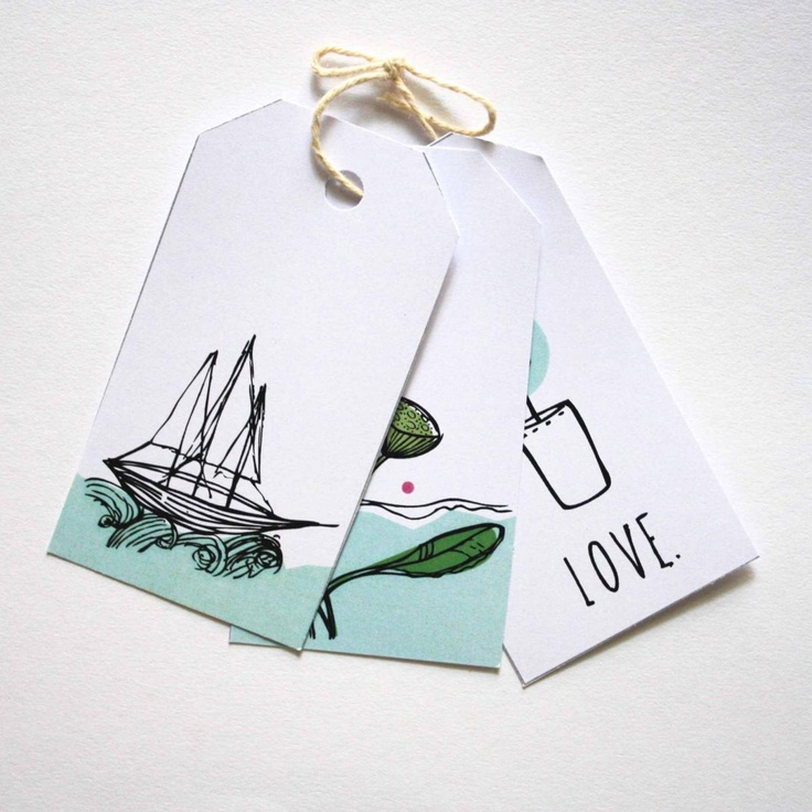 Nookroad Nautical Inspired Gift Tags