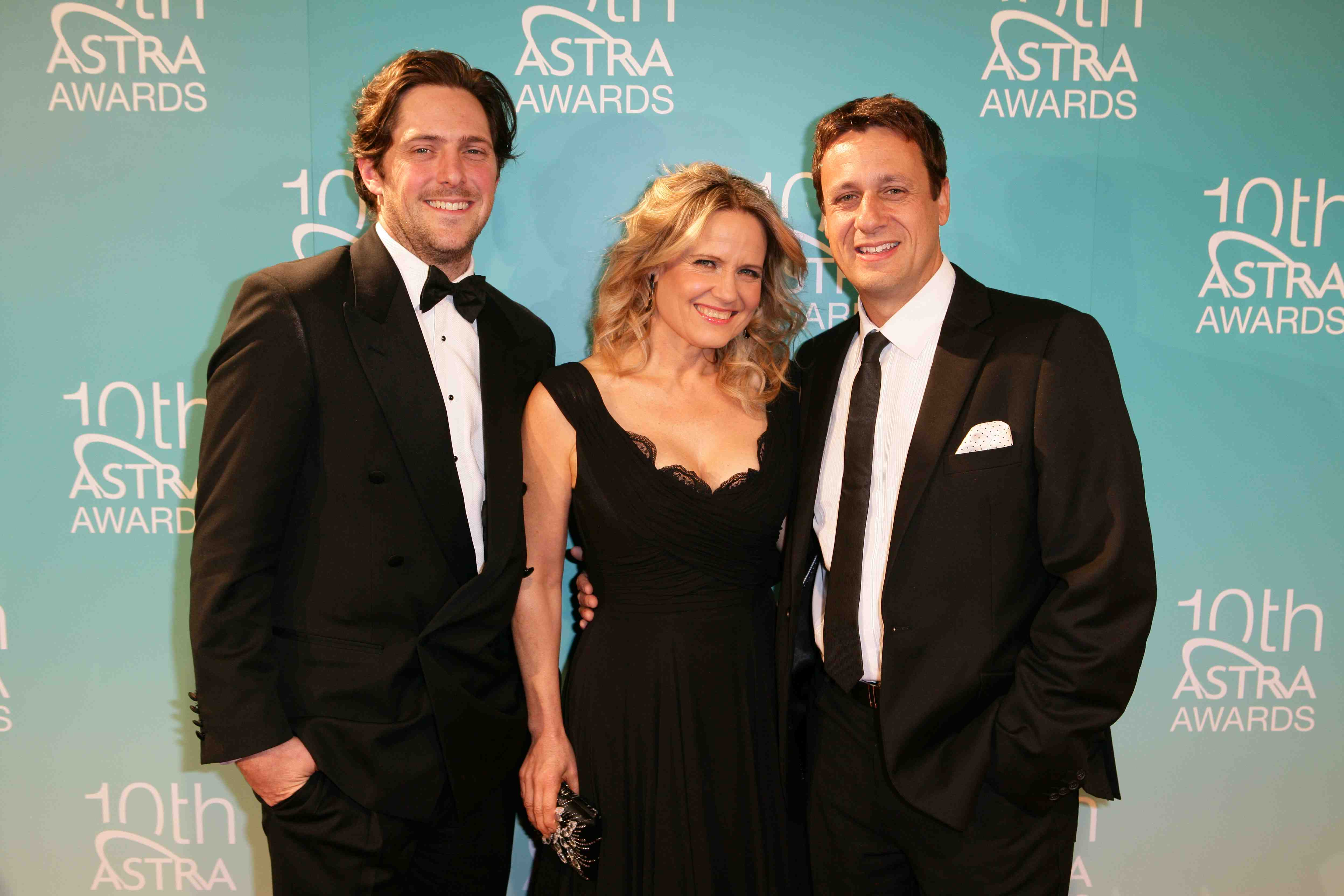 Charlie, Shaynna and Andrew at the 10th Annual Astra Awards. Photo courtesy of astra.org.au