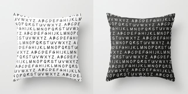 Handwritten Alphabet Cushions