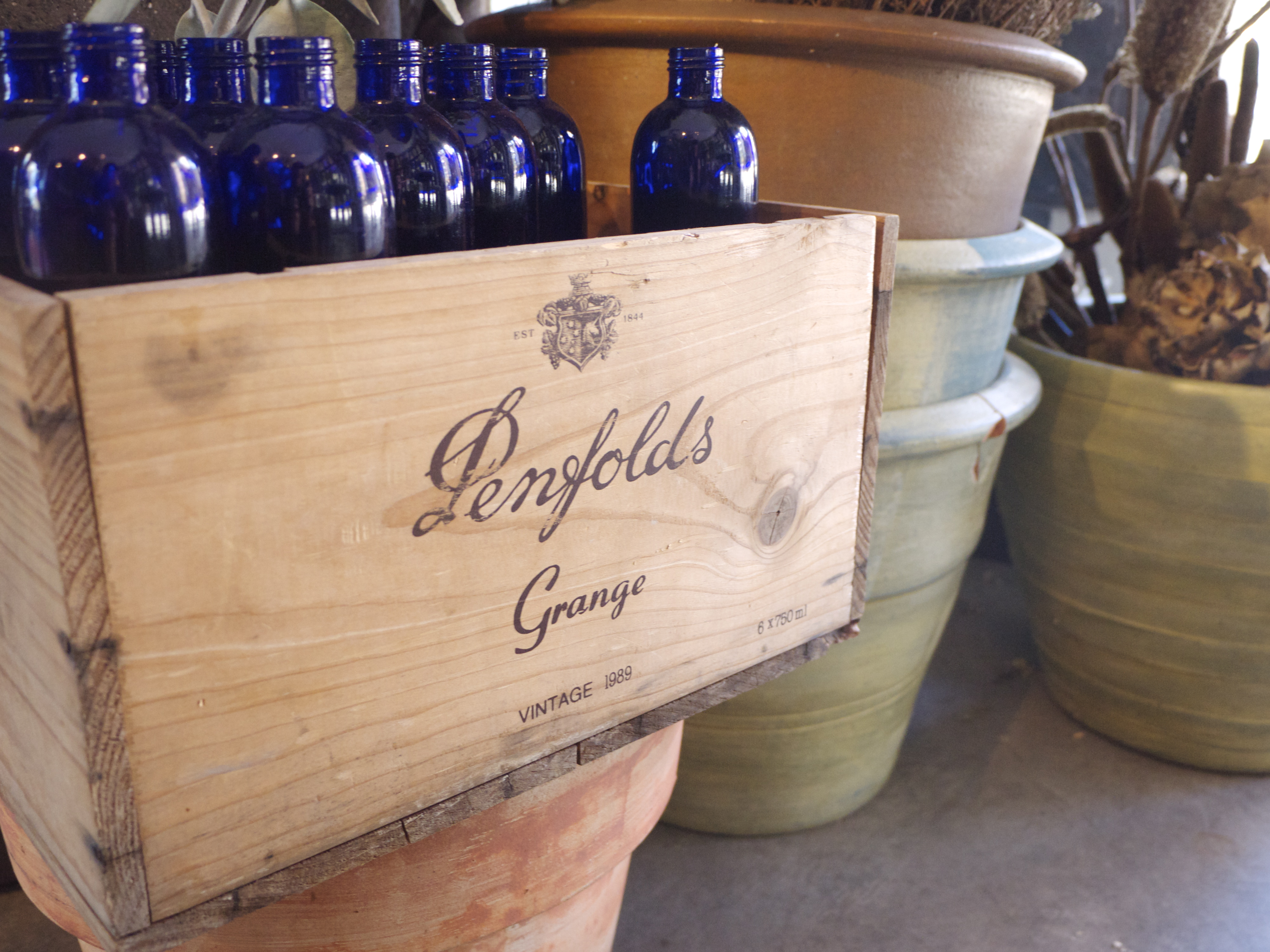 Penfolds Box Crate - Garlands Florist, Surry Hills