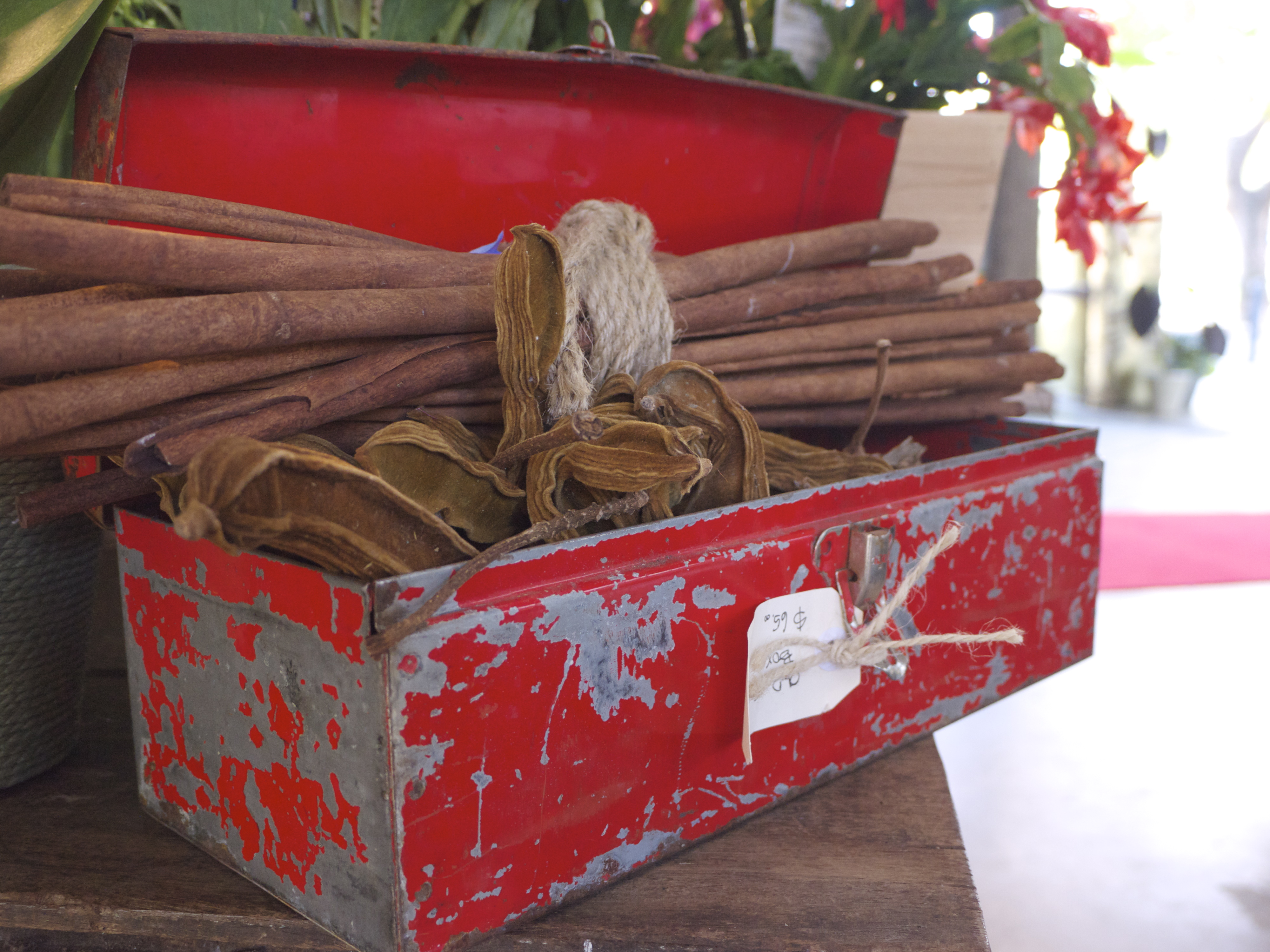 Industrial Red Tool Box - Garlands Florist, Surry Hills