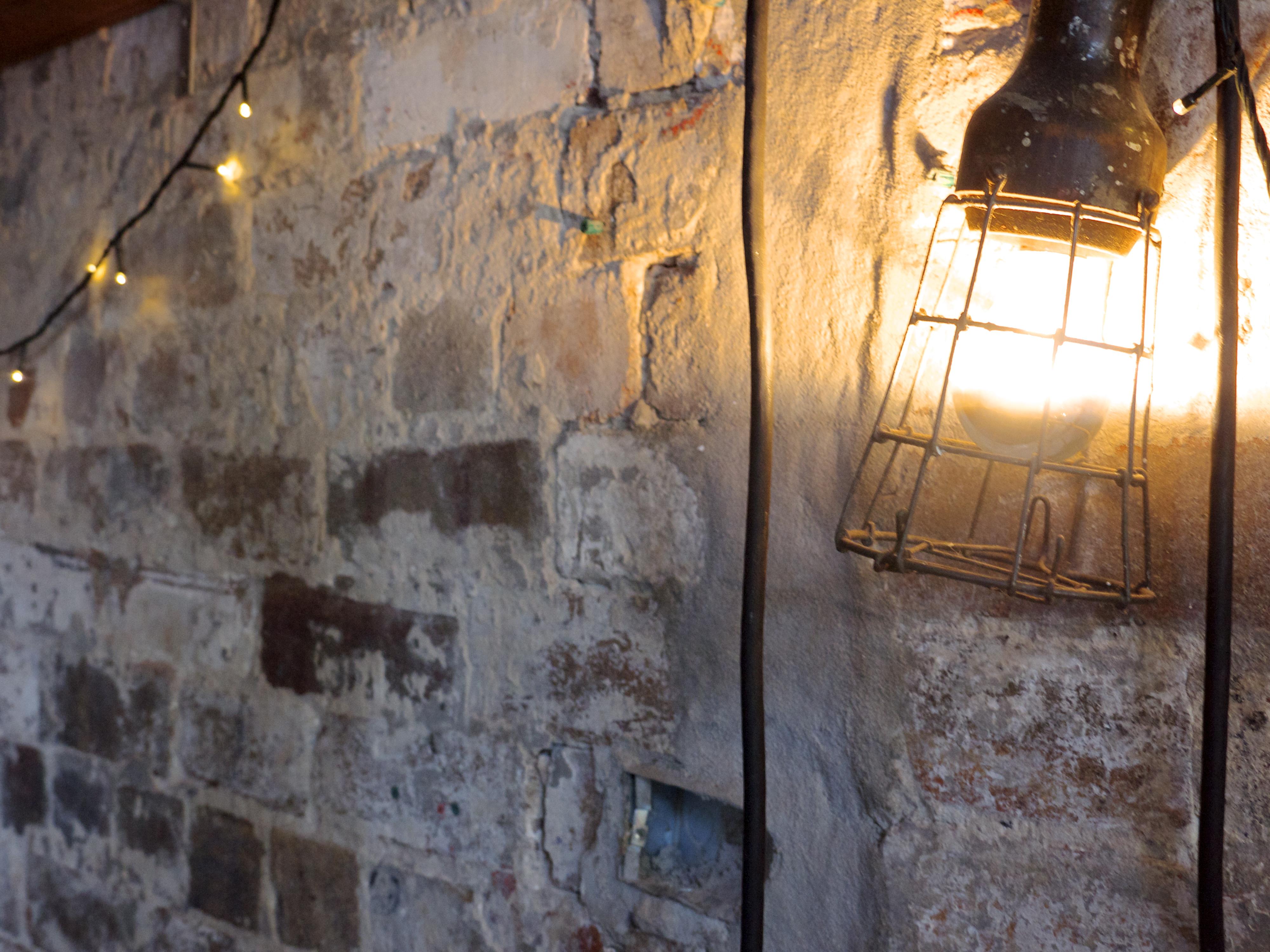 Exposed Brick and Industrial Light - Arcadia Liquors in Redfern