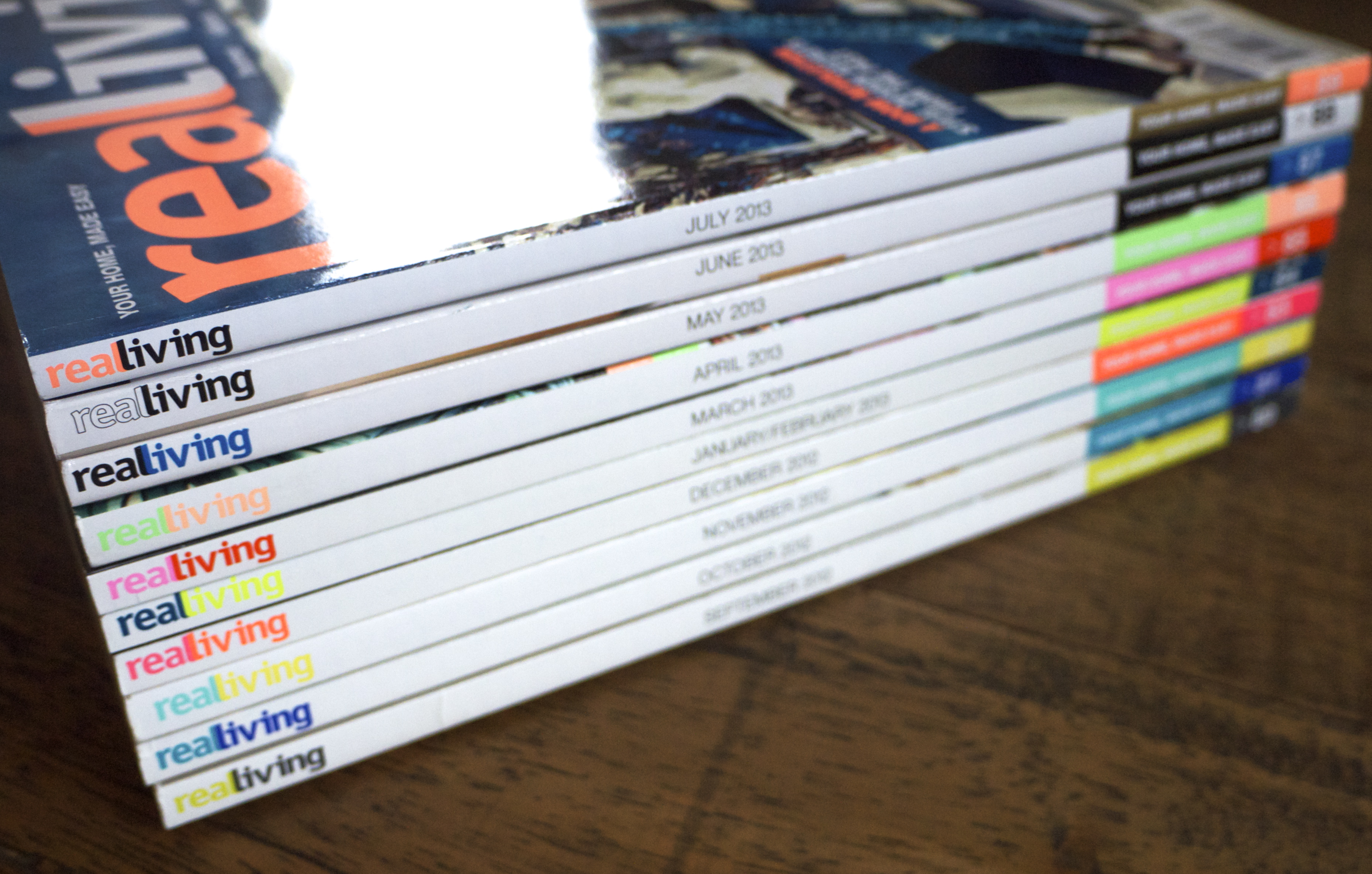 Real Living Magazine Stack