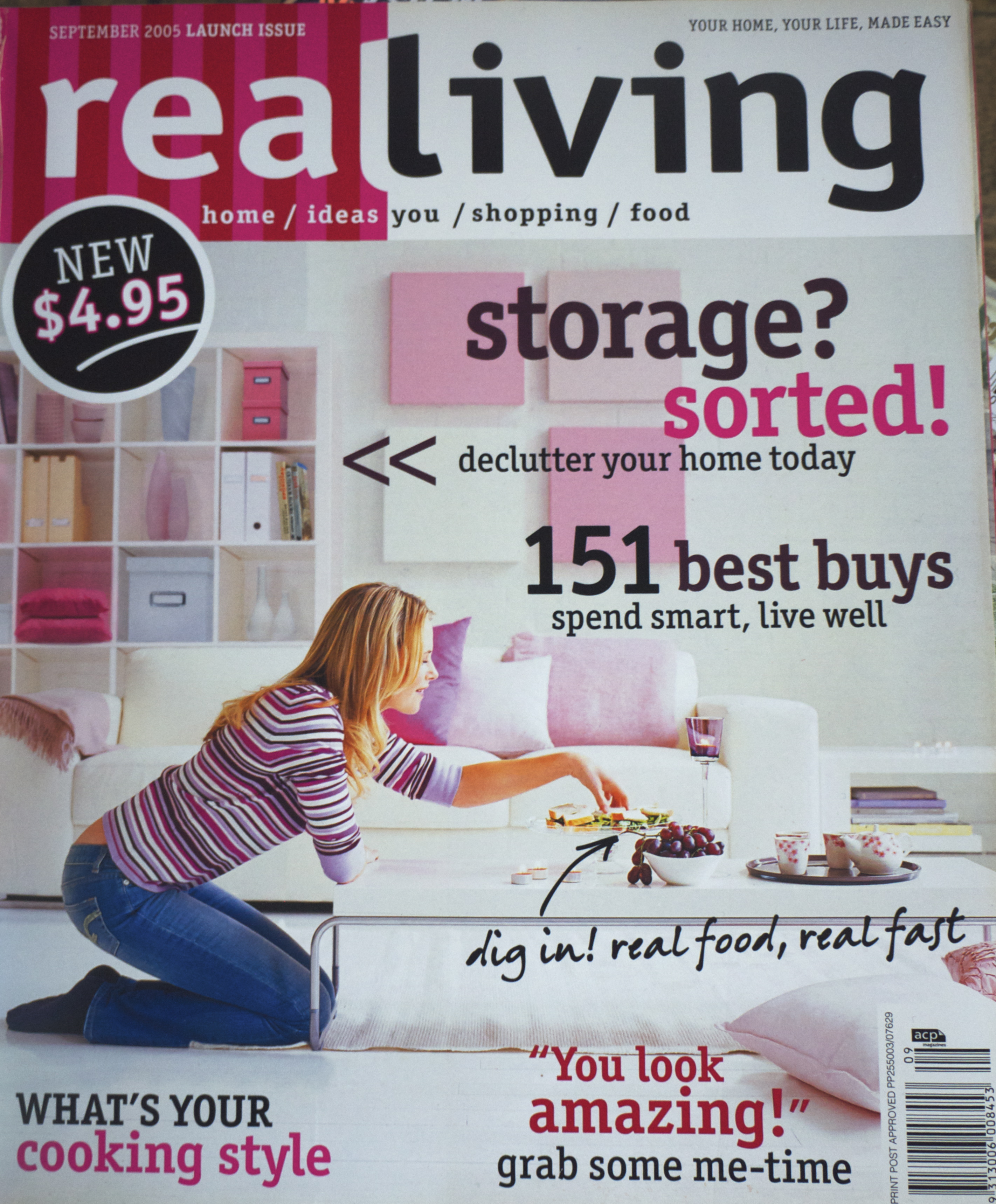Real Living Front Cover of Issue One