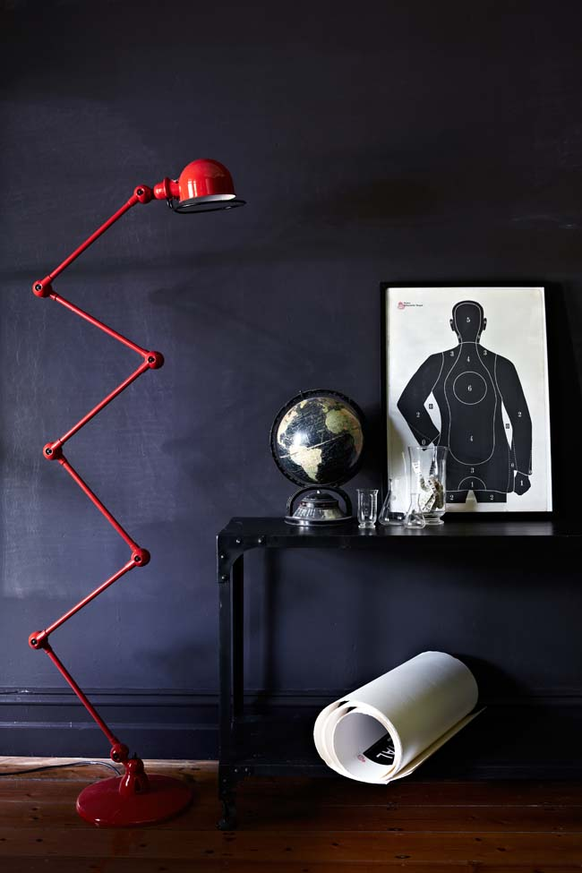 Red Lamp Styling in Inside Out magazine