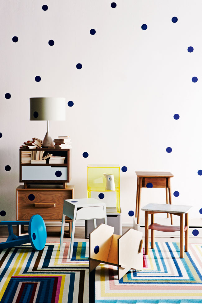 Polka Dot Wall in Inside Out magazine