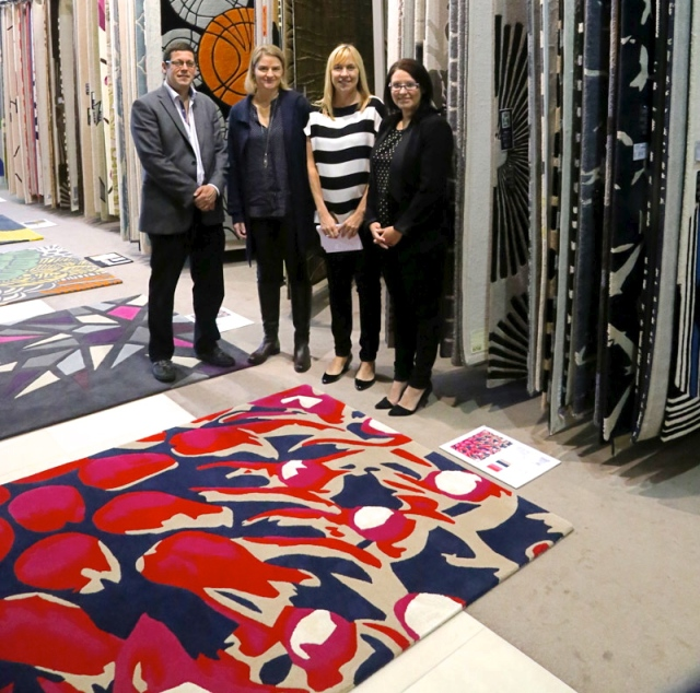 From left: Yosi Tal from Designer Rugs, Tina Murray-Walker, iscd General Manager Lucy Sutherland and Inside Out's Claire Bradley.
