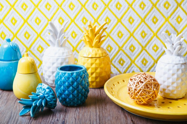 Ceramic Pineapples from The Home website
