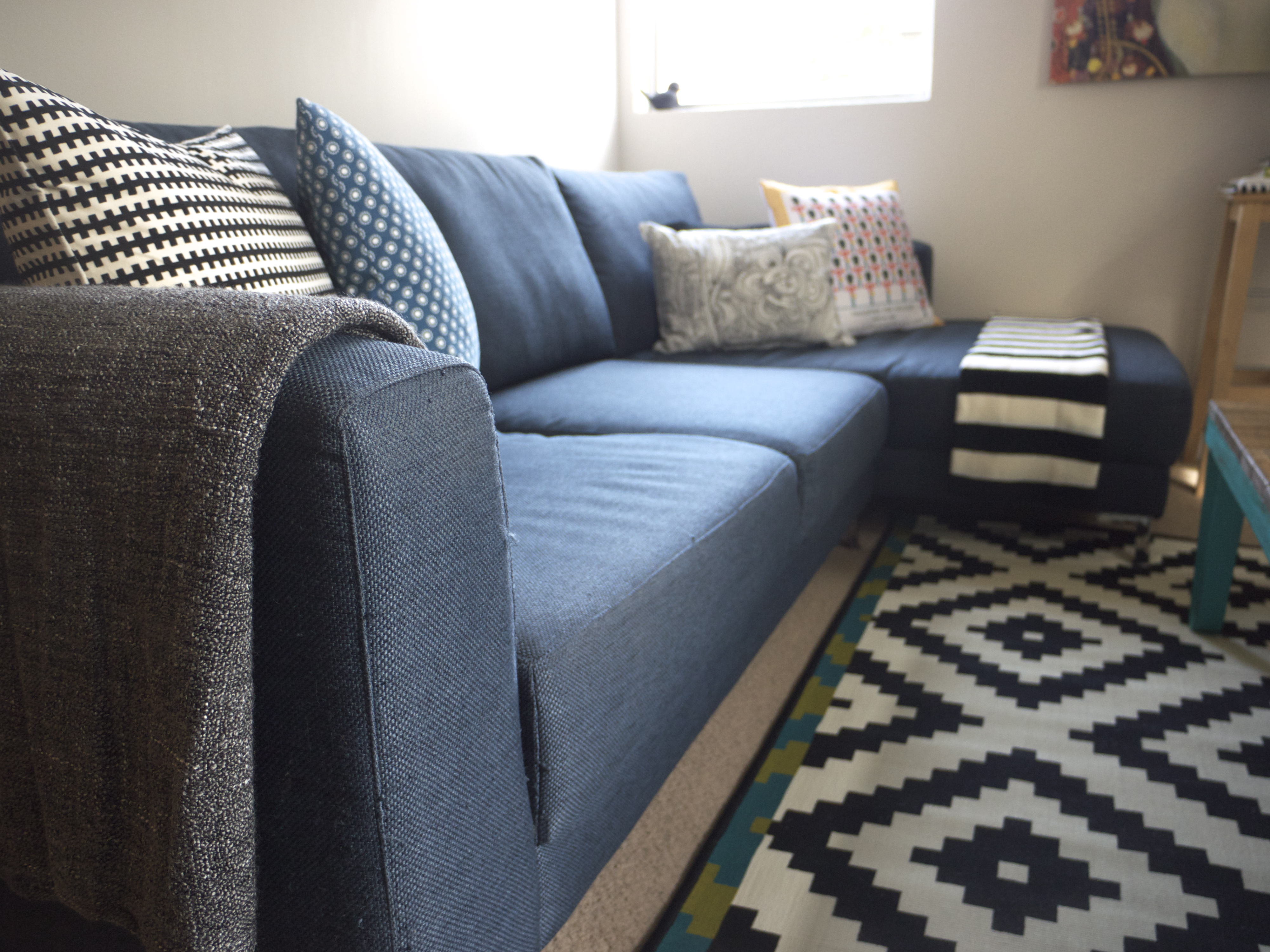 IKEA Winter Living Room Makeover - Couch, Cushions, Throw and Rug