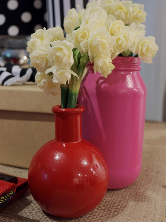 Love, love, love these painted jars and vases from Nakeba!