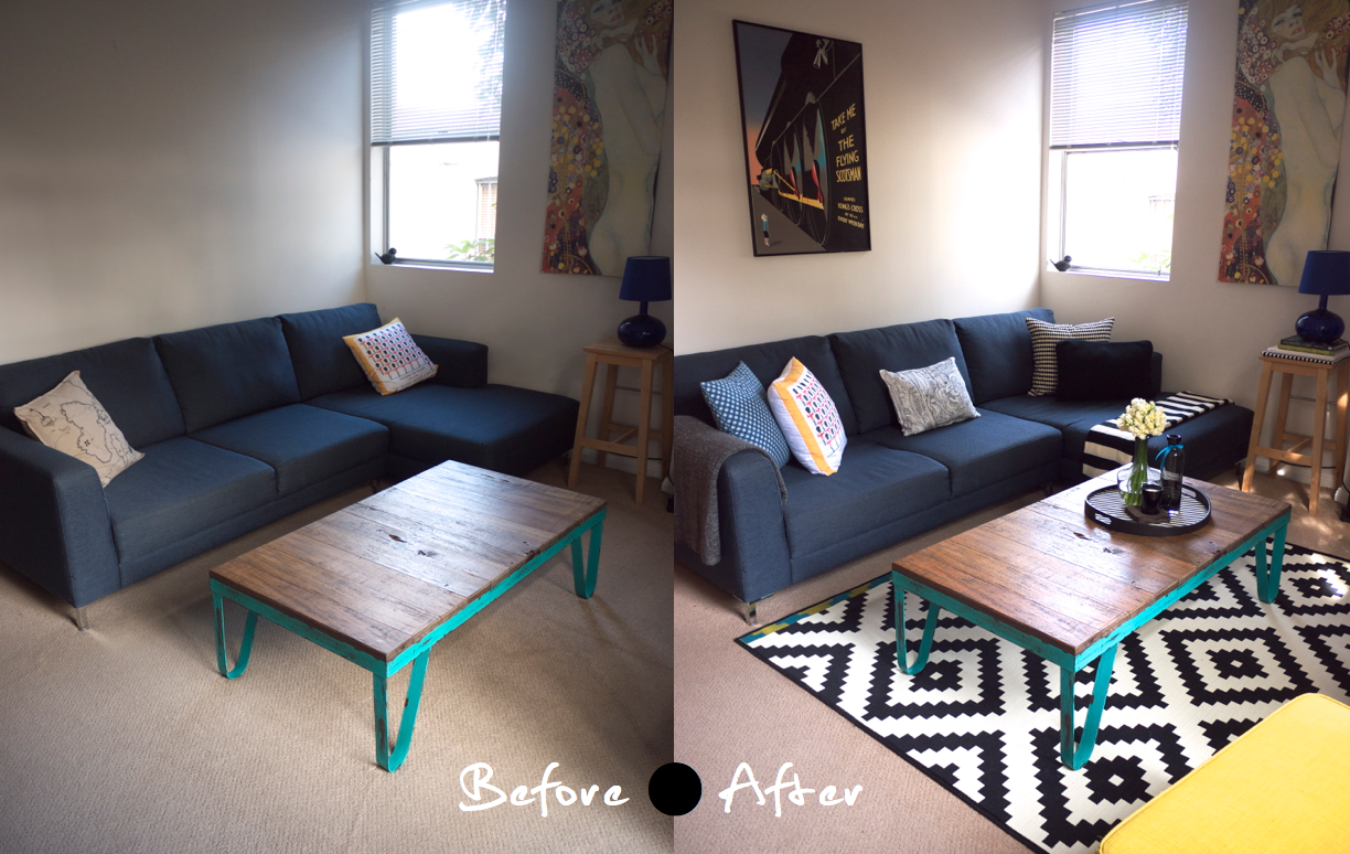 My ikea winter living room makeover tlc interiors - Small living room before and after ...