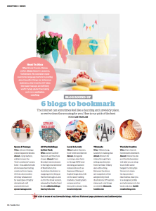 INSIDE OUT MAGAZINE: Six Blogs to Bookmark