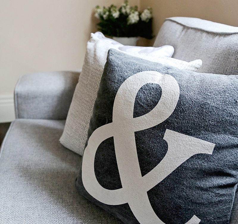 Amber Stapff's Scandi Style Living Room - Ampersand Cushion