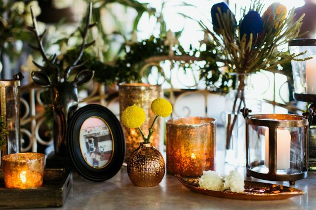 brass setting - High Tea at The Home Spring Launch