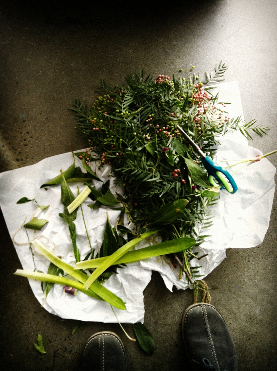 Inside Out Photo Shoot with Stylist Vanessa Colyer Tay - Flower Prep