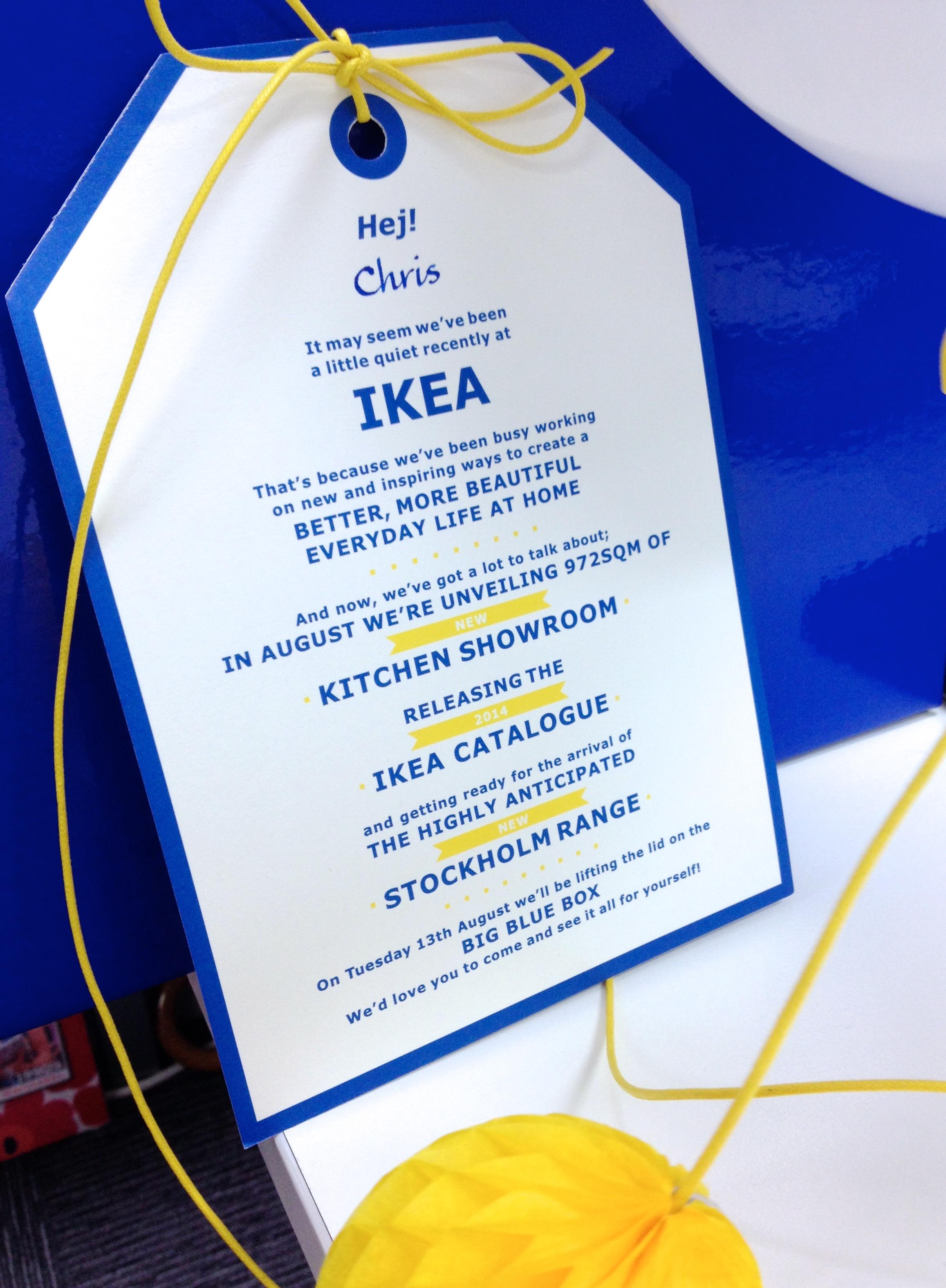 IKEA Invitation - The Big Blue Box