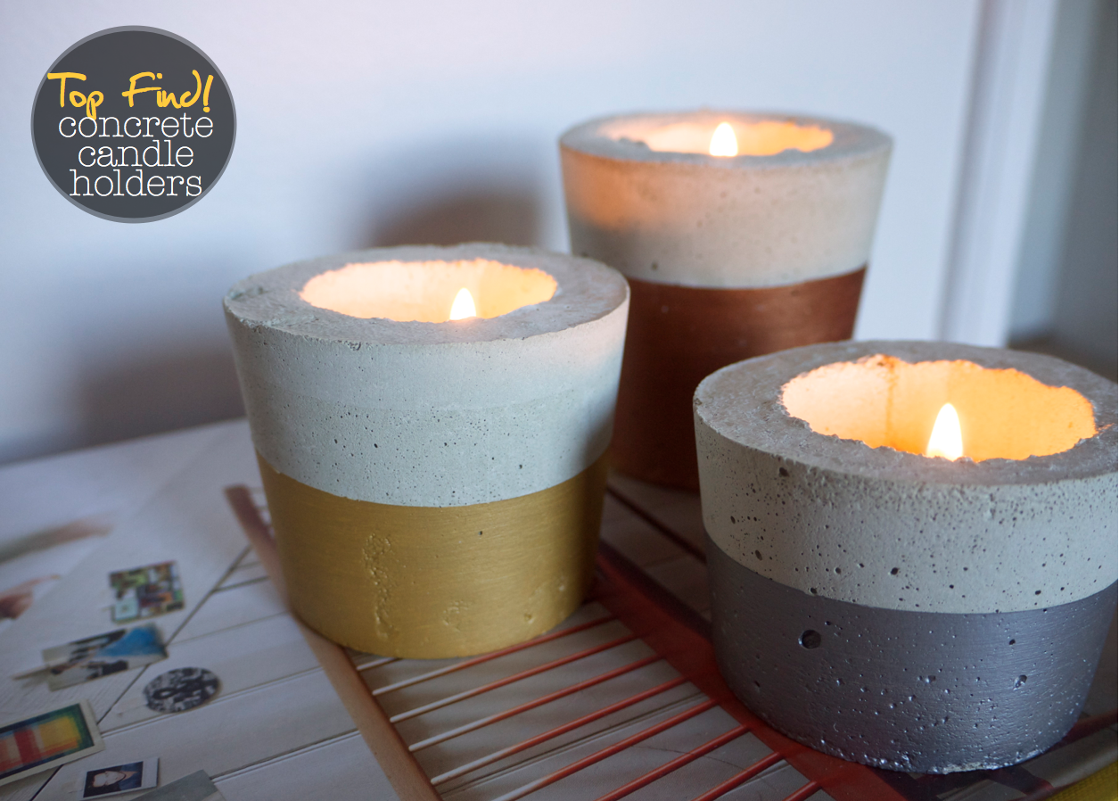 Sarai Homewares - Cement Candle Holders