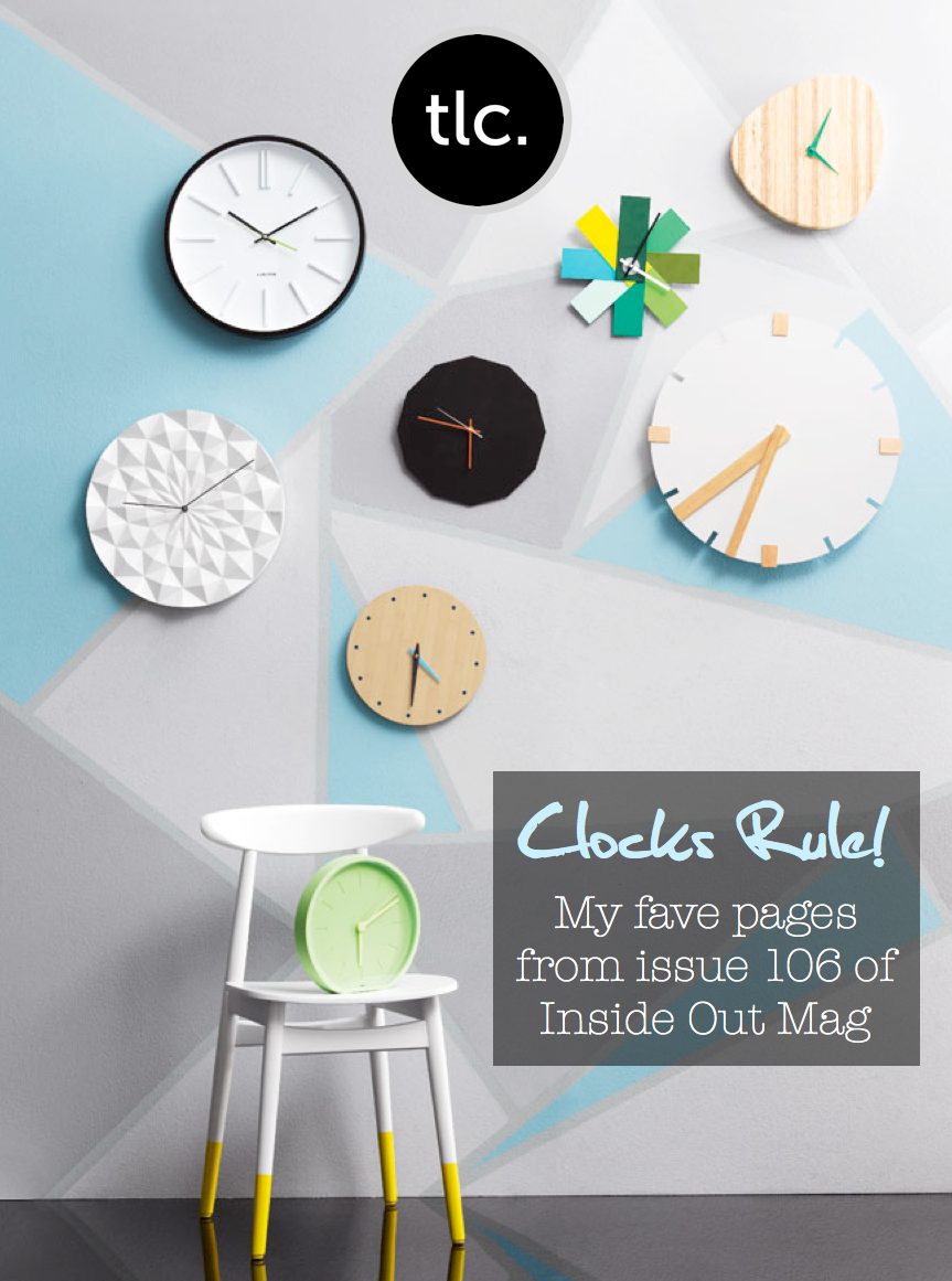 Inside Out Magazine - September 2013 - Clock Wall