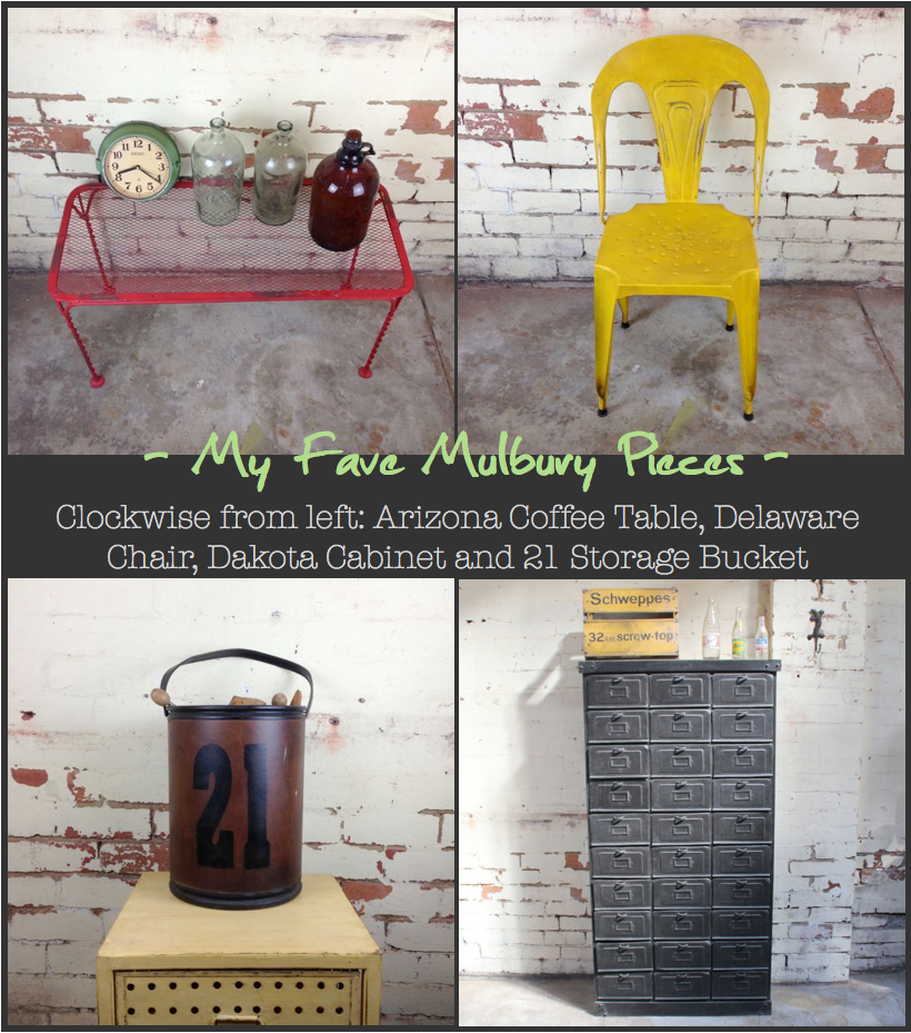 Industrial Furniture from Mulbury -Seating, Table, Chair, Storage