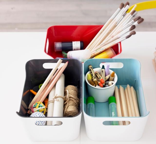 Kids Room Ideas - IKEA storage for craft activities