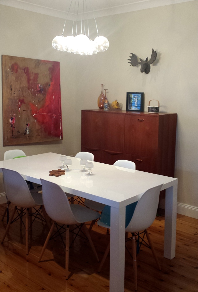 Eclectic Dining Room Space