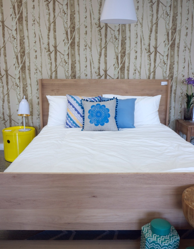Clickon Furniture - Bedding with Forest Wallpaper