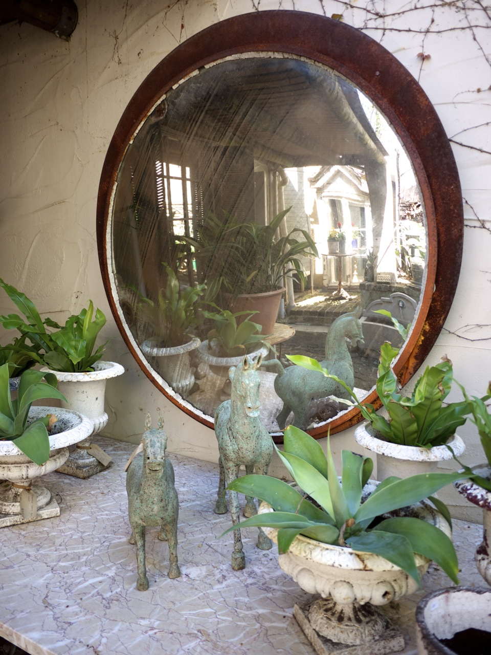 Parterre in Woollahra - Rusted Mirror with Horse Ornaments